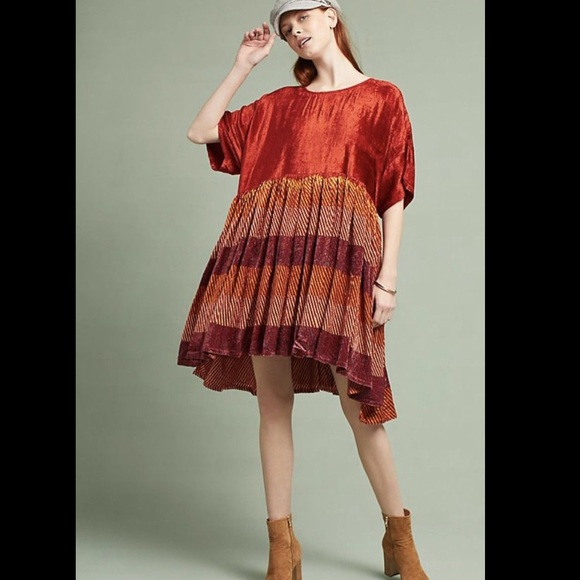 fda022ab4221 Anthropologie Dresses | Oversized Velvet Striped Dress Xss | Poshmark